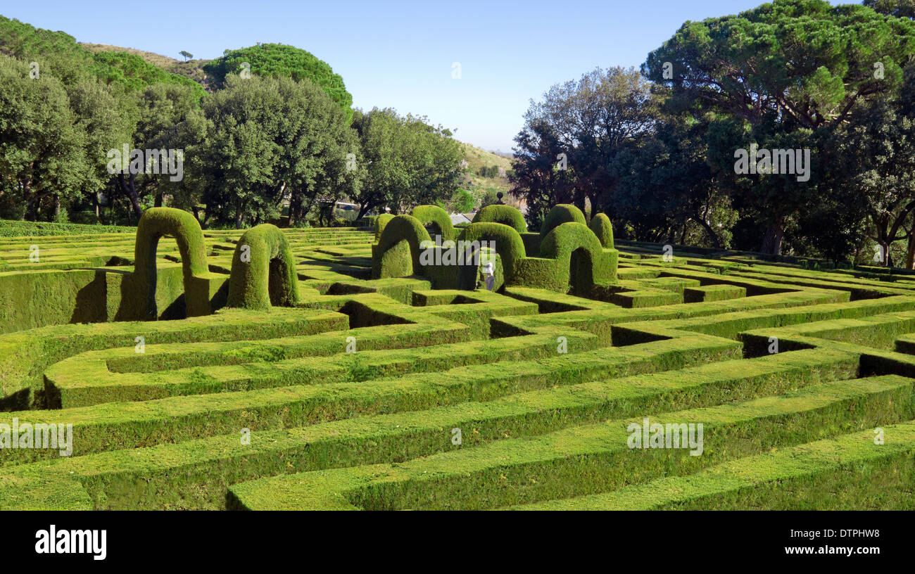 Horta Labyrinth. Passeig de Castanyers. Barcelona city, Catalonia, Spain - Stock Image