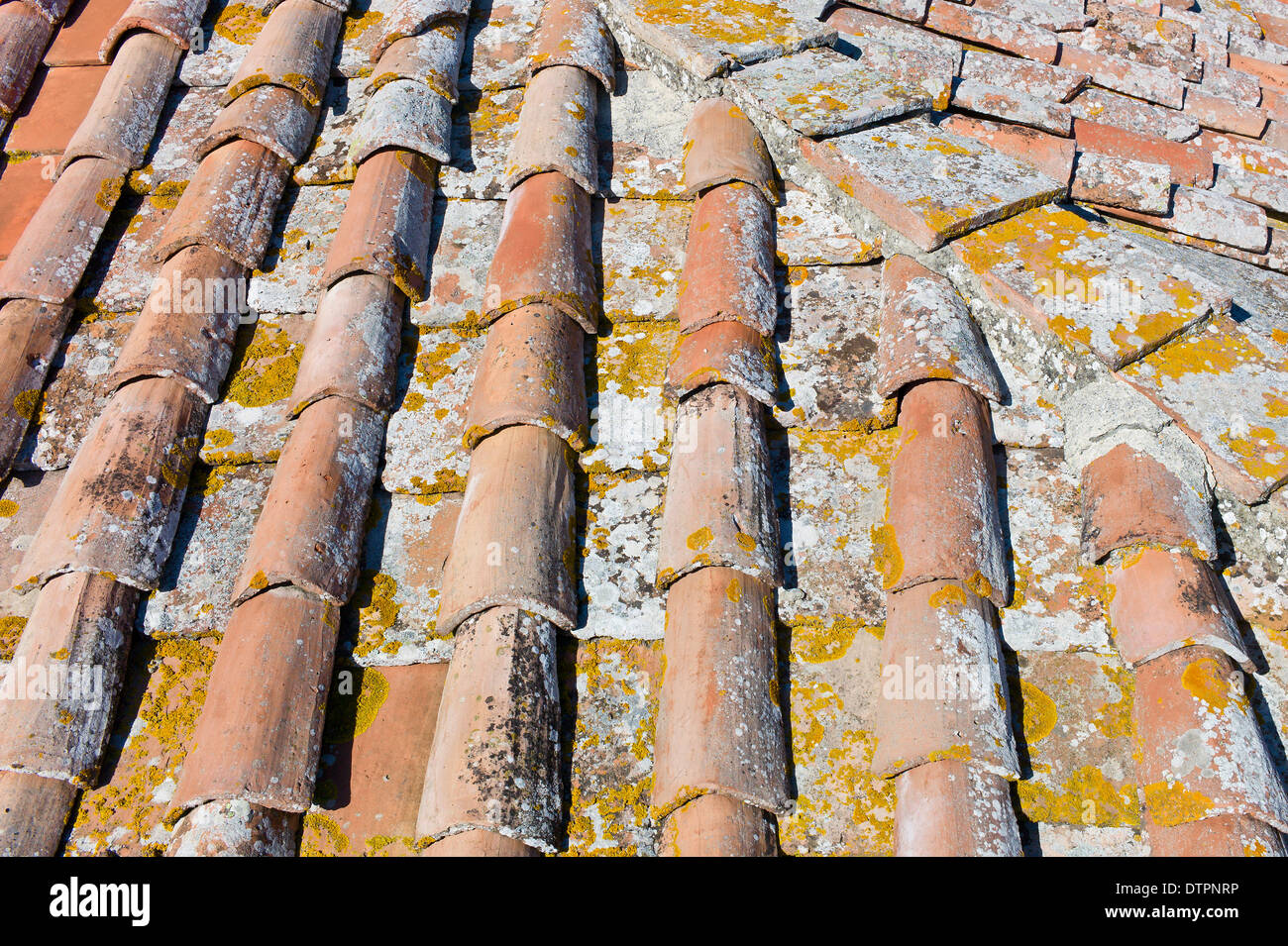 Terracotta Roof Tiles Montepulciano Tuscany Italy Stock Photo Alamy