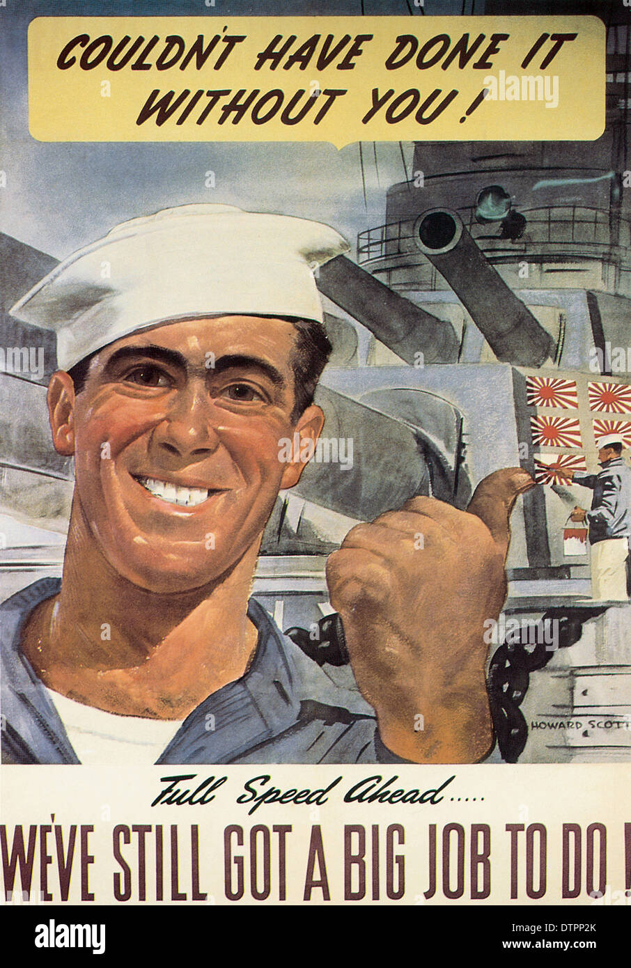 American WW2 propaganda poster Stock Photo