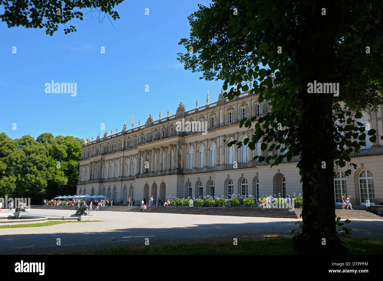 Castle of Herrenchiemsee, Chiemsee, Bavaria, Germany - Stock Image