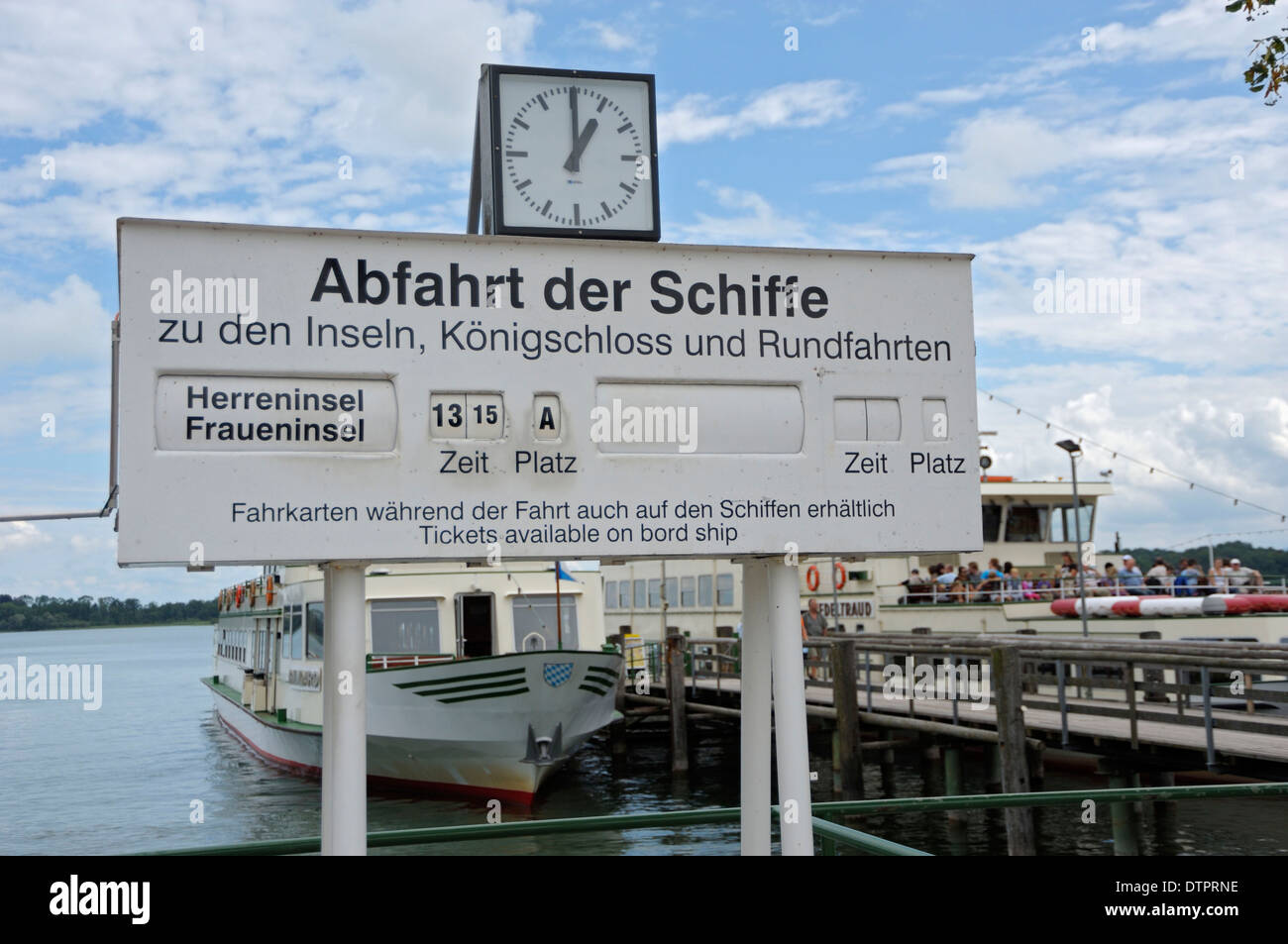 Harbour of Prien, Chiemsee, Bavaria, Germany Stock Photo