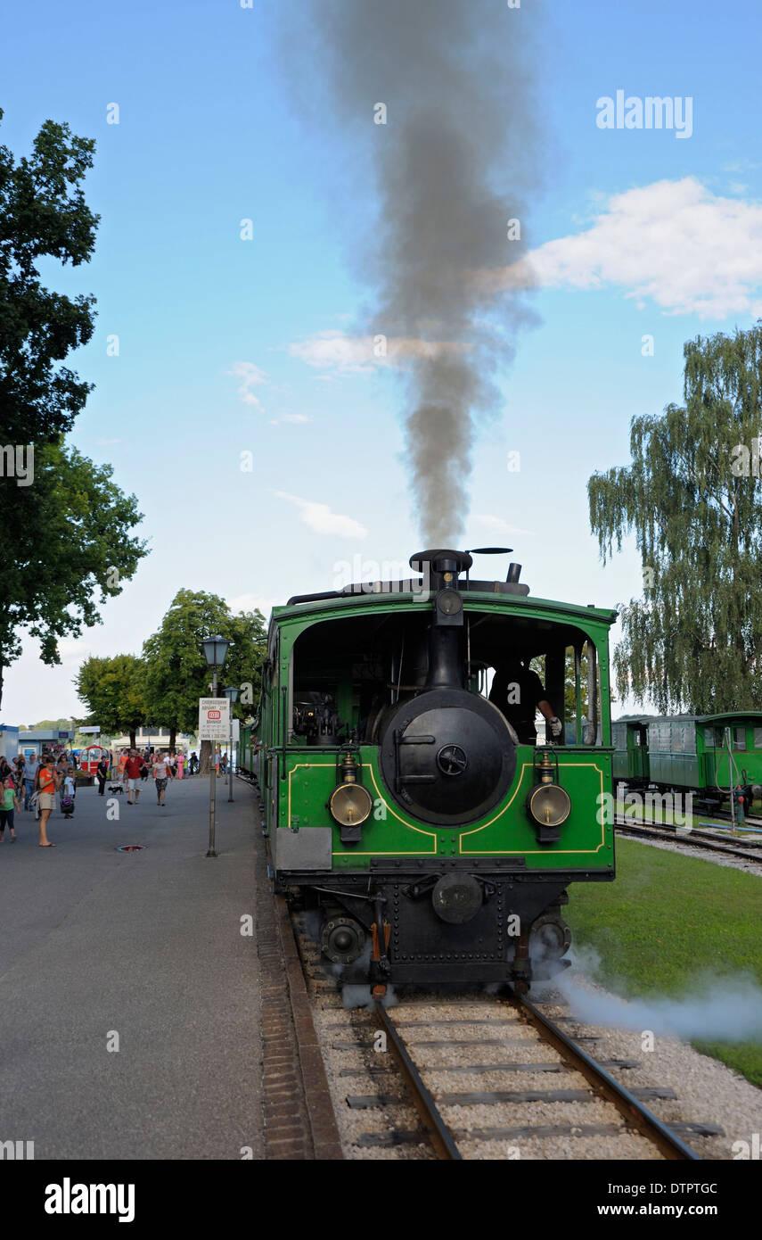Chiemseebahn, railway in Prien, Chiemsee, Bavaria, Germany Stock Photo