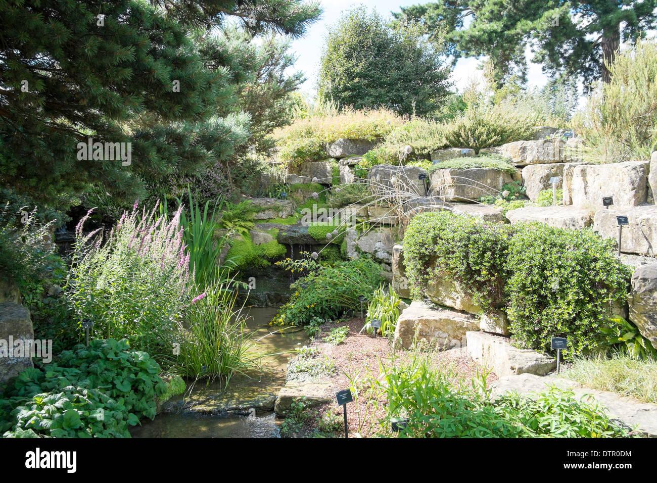 The Rock Garden, Kew Royal Botanic Gardens, England - Stock Image
