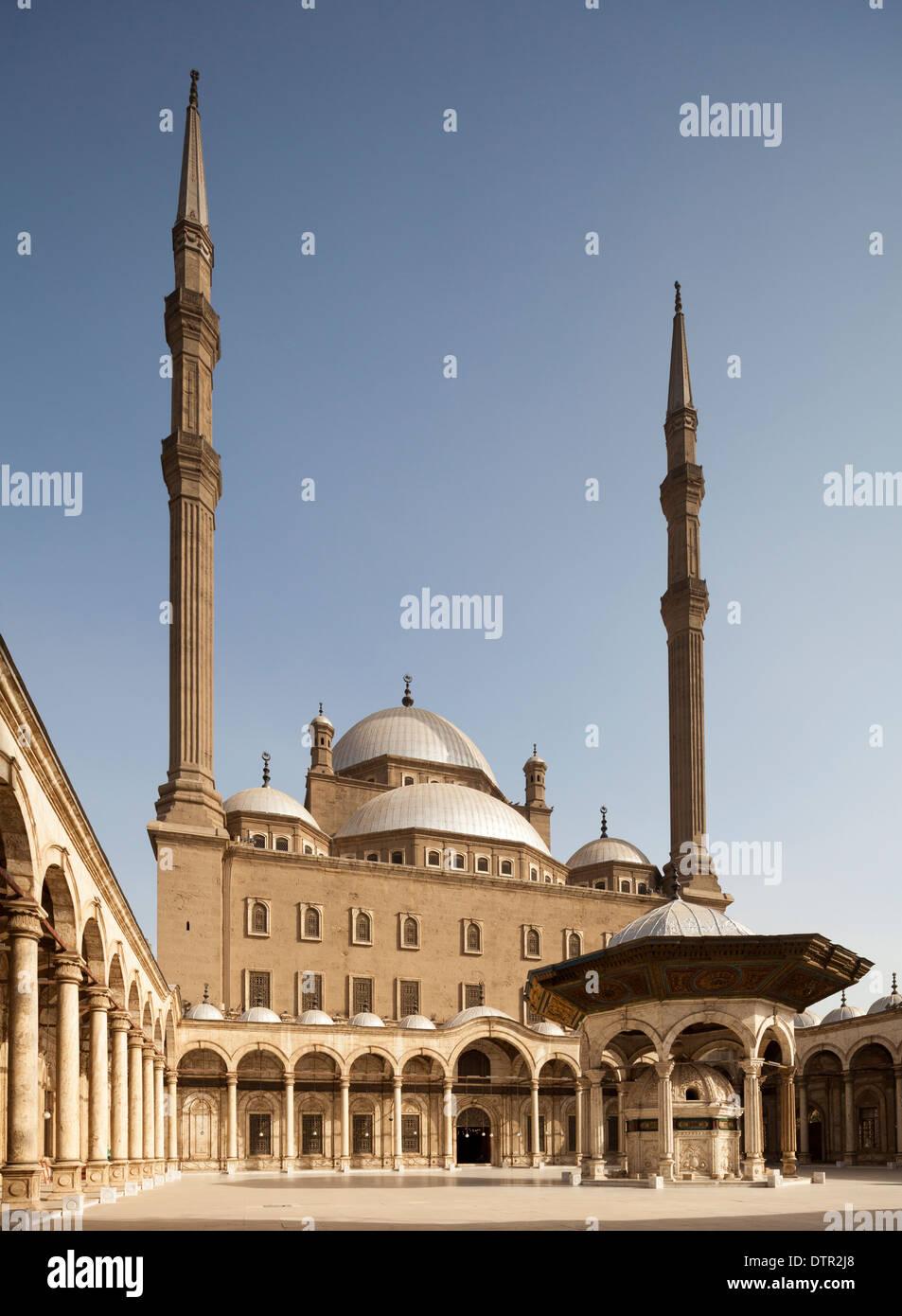 mosque of Muhammad Ali, Citadel, Cairo, Egypt Stock Photo