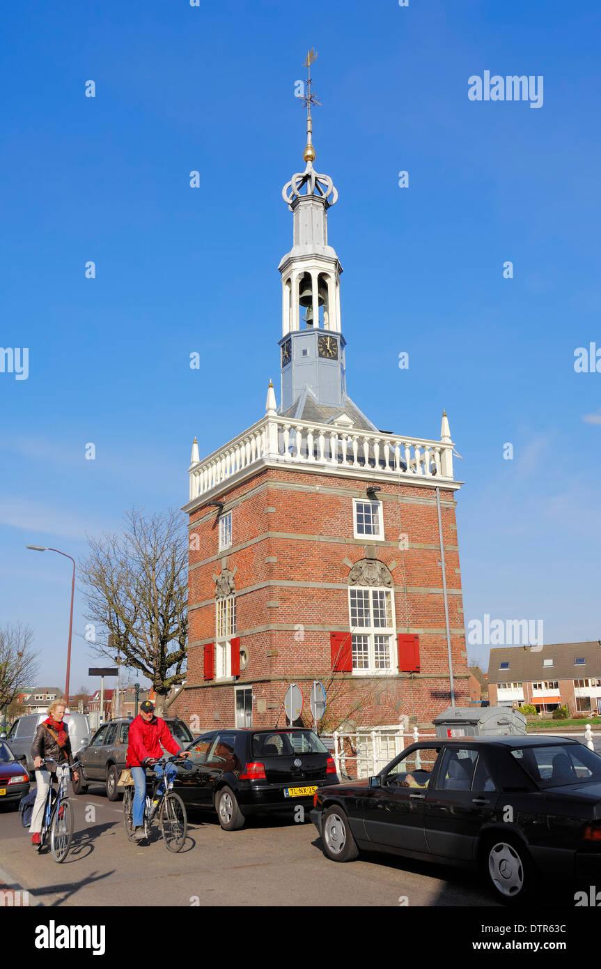 Tower Accijnstoren built 1622, Alkmaar, Noord Holland, Netherlands Stock Photo