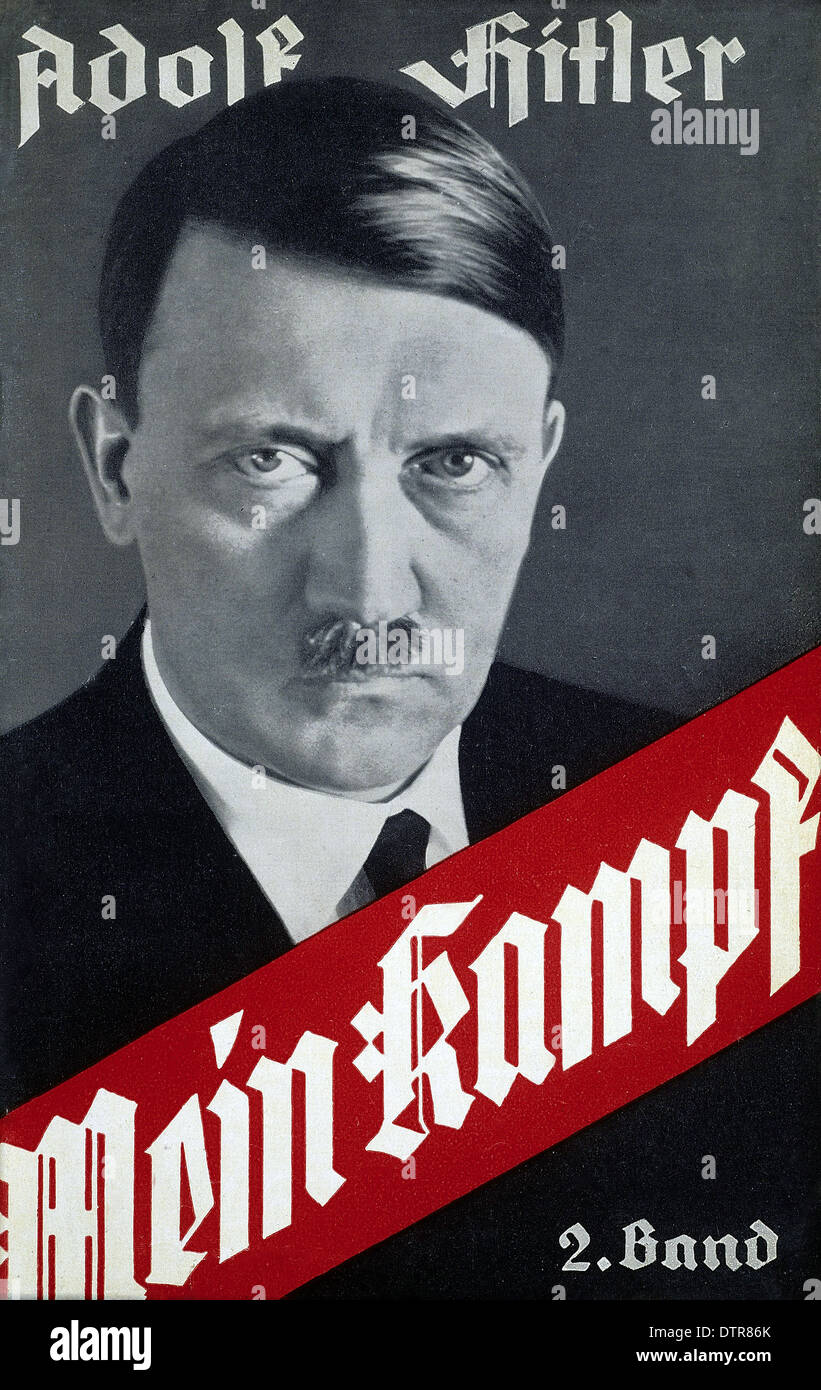 Cover of Mein Kampf autobiographical German manifesto by Nazi leader Adolf Hitler - Stock Image