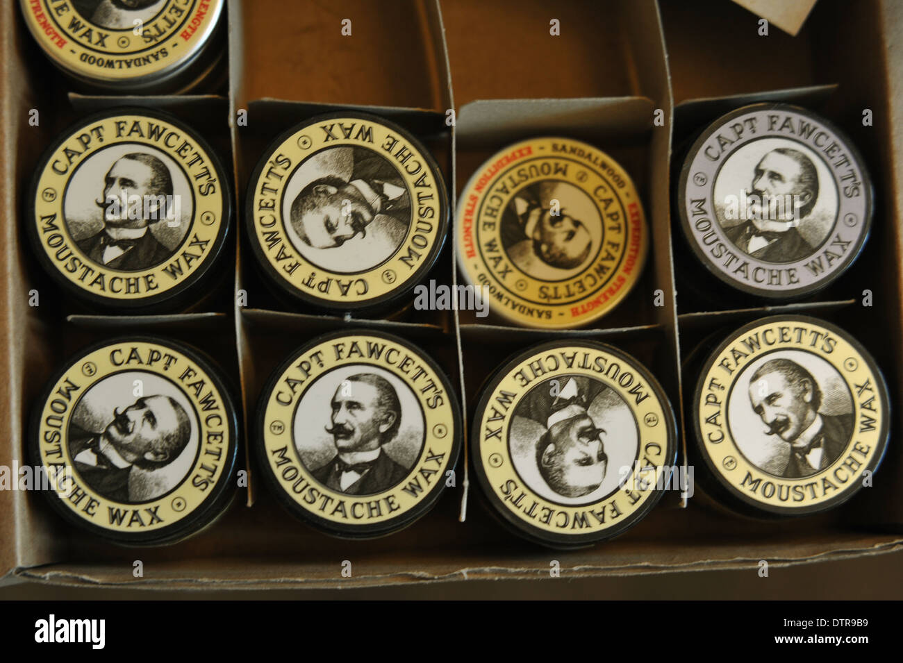 Moustache Wax, New York Barbershop, Rotterdam. Editorial use only. - Stock Image