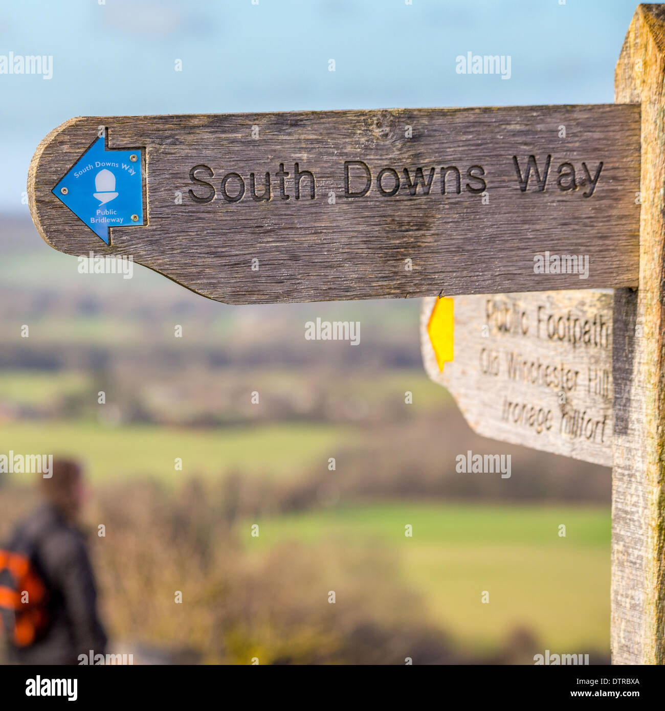South Downs National Park, Meon Valley, Hampshire - Stock Image