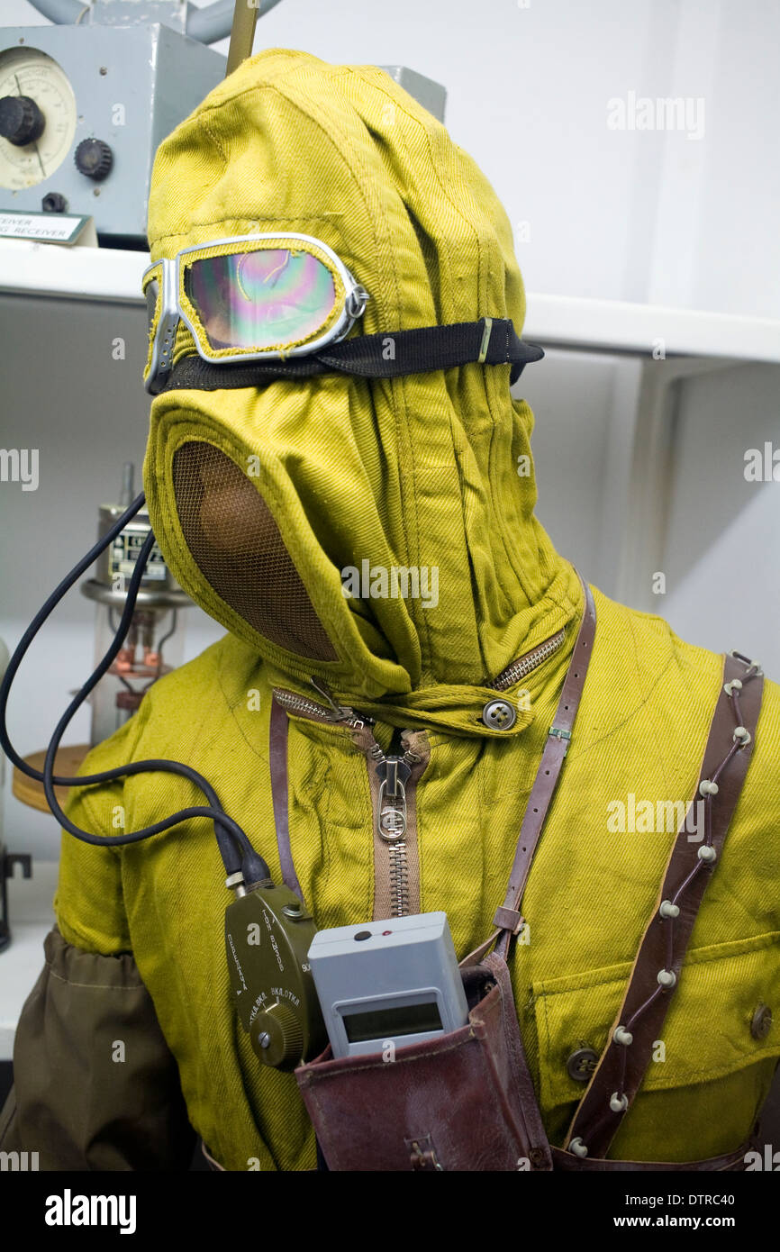 Cold War Era Radiation Suit - Stock Image
