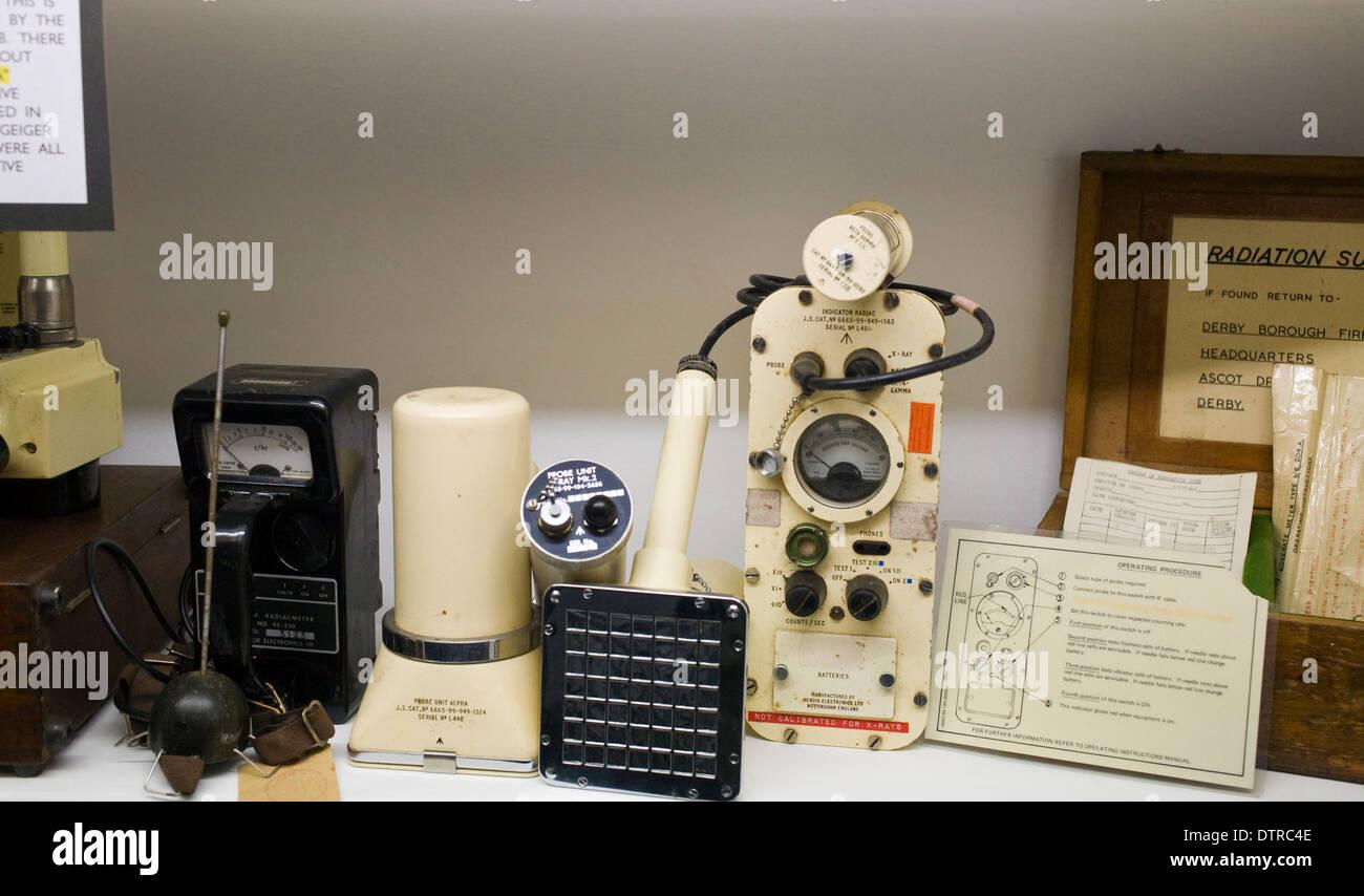 Coldwar Era Radiation Detection Equipment - Stock Image