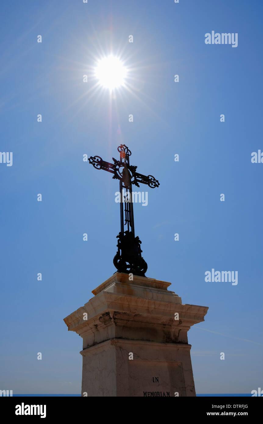 Cross, Nice, Alpes-Maritimes, Provence-Alpes-Cote d'Azur, Southern France - Stock Image