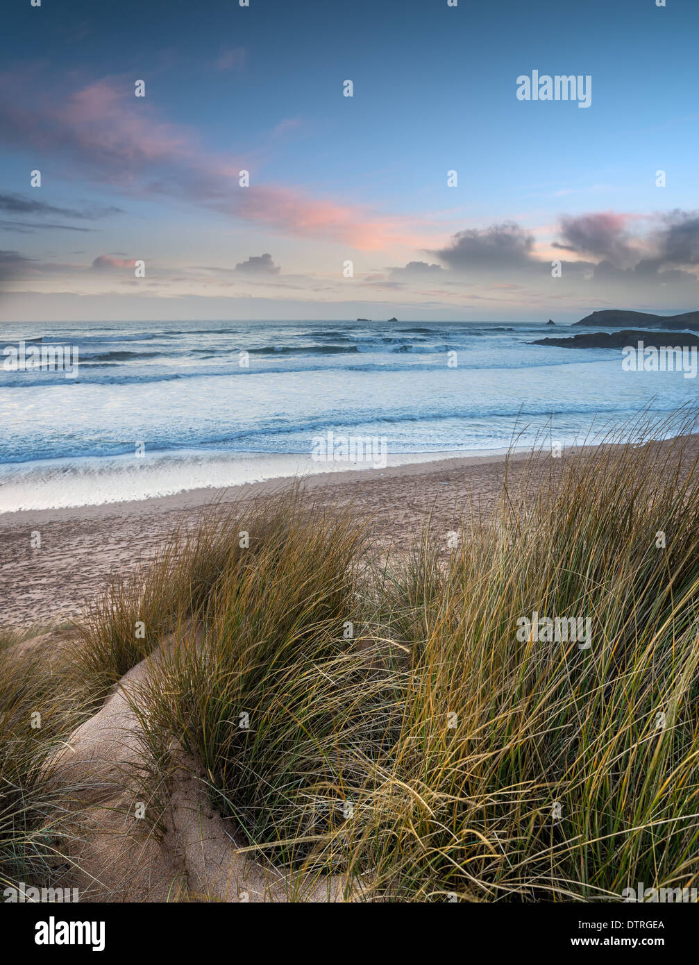 Constantine Bay near Padstow on the Atlantic coast of Cornwall - Stock Image