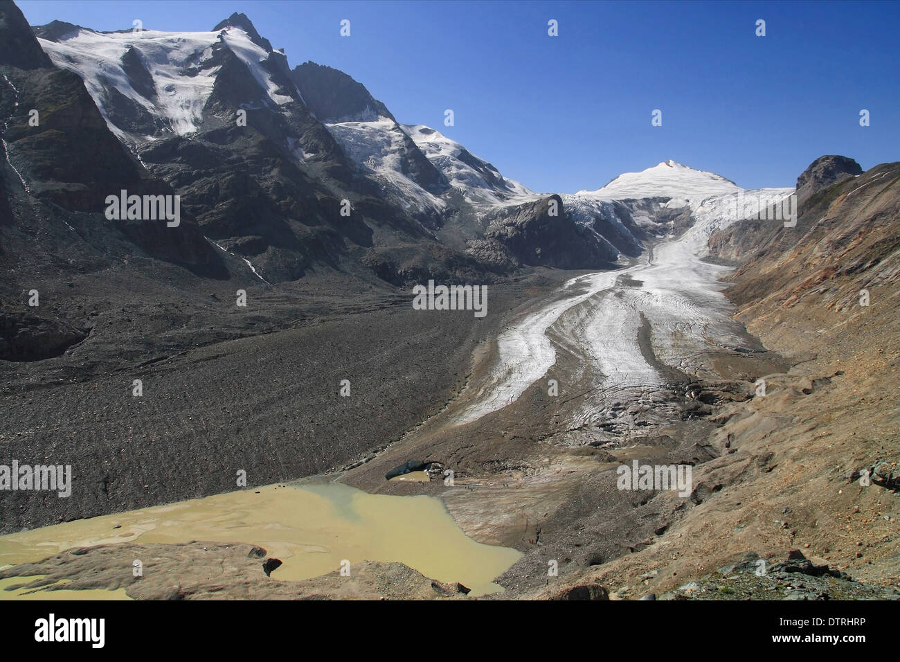Pasterze glacier in the National Park of Hohe Tauern, Austria. Stock Photo