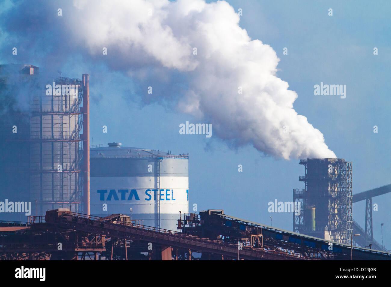 Tata steel, steelworks, Port Talbot, Neath, Wales - Stock Image