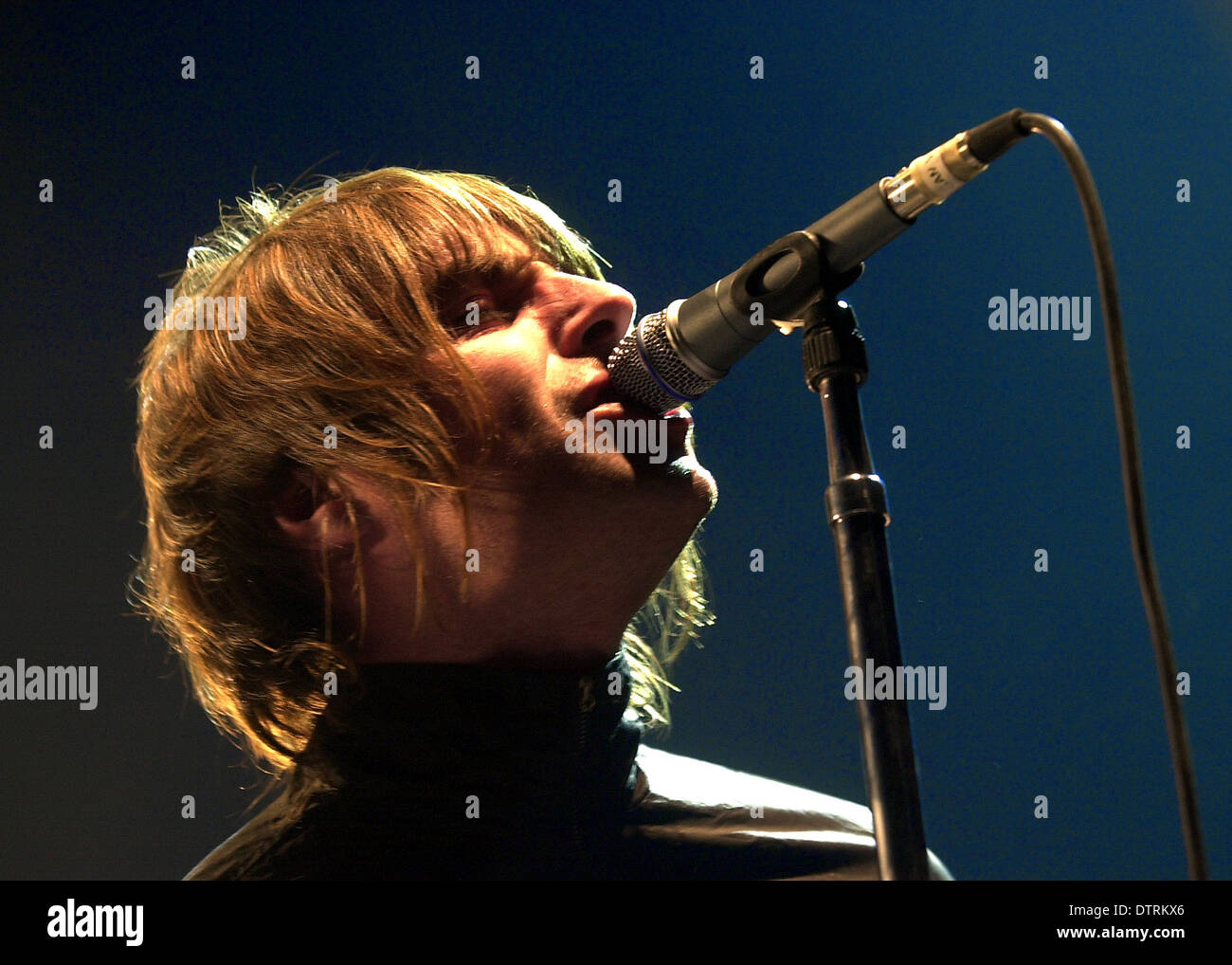 Oasis frontman Liam Gallagher 18/12/02 - Stock Image