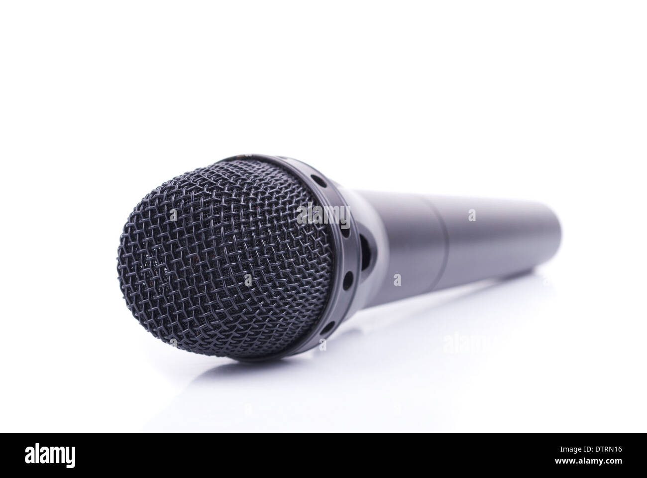 Microphone on a white background. - Stock Image
