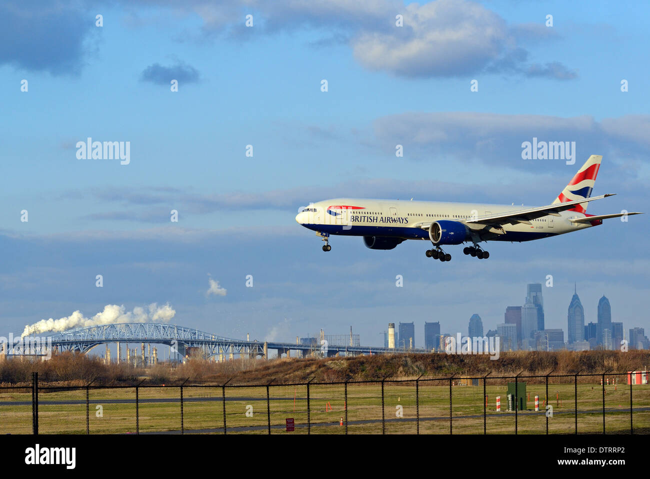 Air travel at Philadelphia International Airport in Philadelphia, Pennsylvania. Stock Photo
