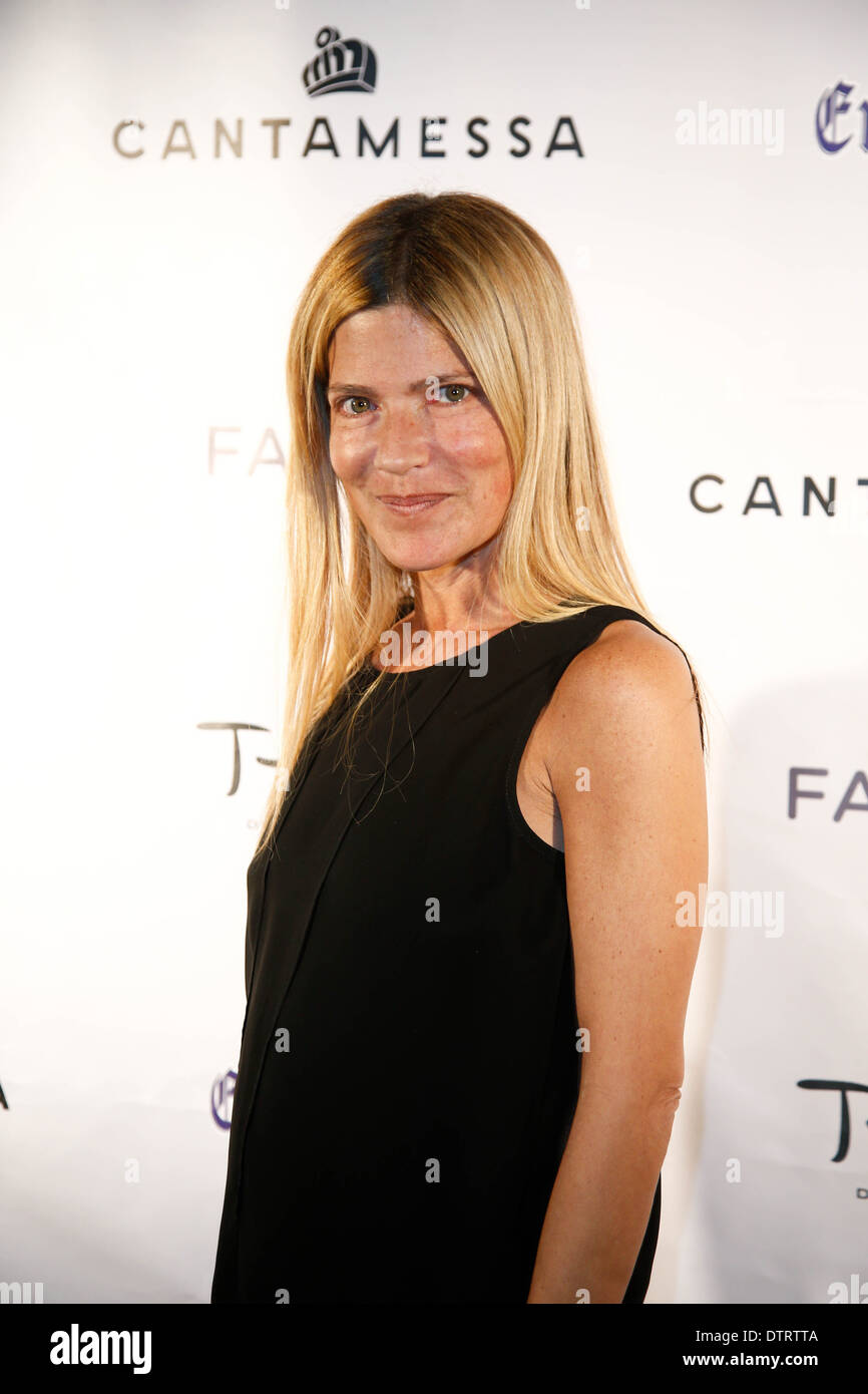 Publicist Lizzie Grubman attends the Cantamessa Men Launch Party at Tao Downtown Lounge on February 10, 2014 in New York City. - Stock Image