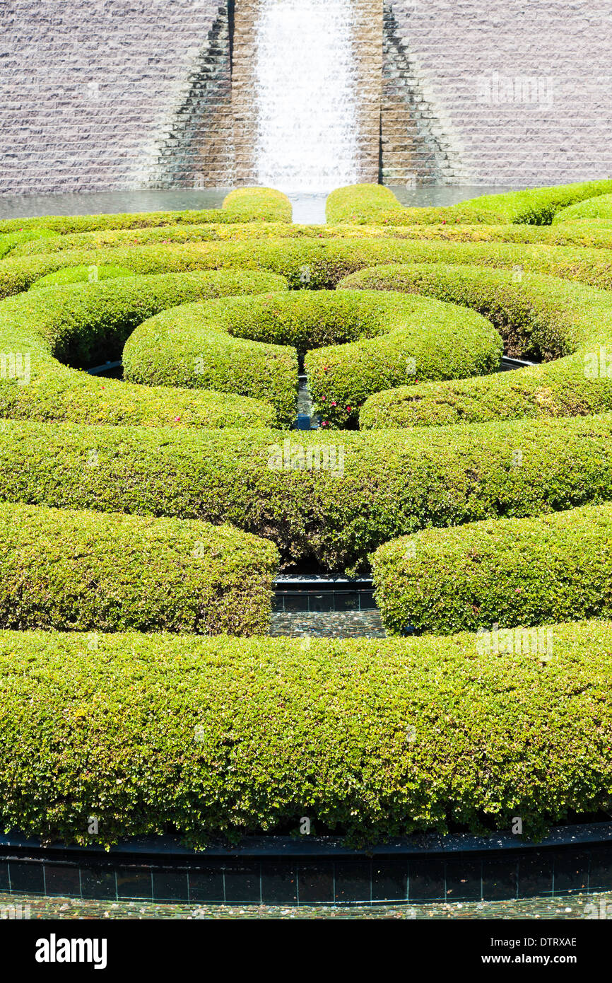 Wonderful Garden Maze During A Sunny Day   Stock Image