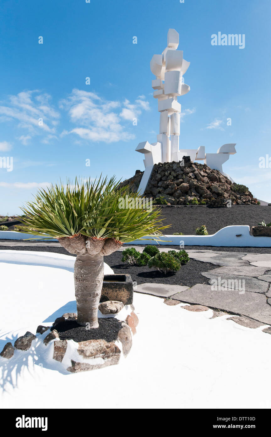 Spain, Canary Islands, Lanzarote: Monumento a la Fecundidad (Monument to Fertility) by César Manrique - Stock Image
