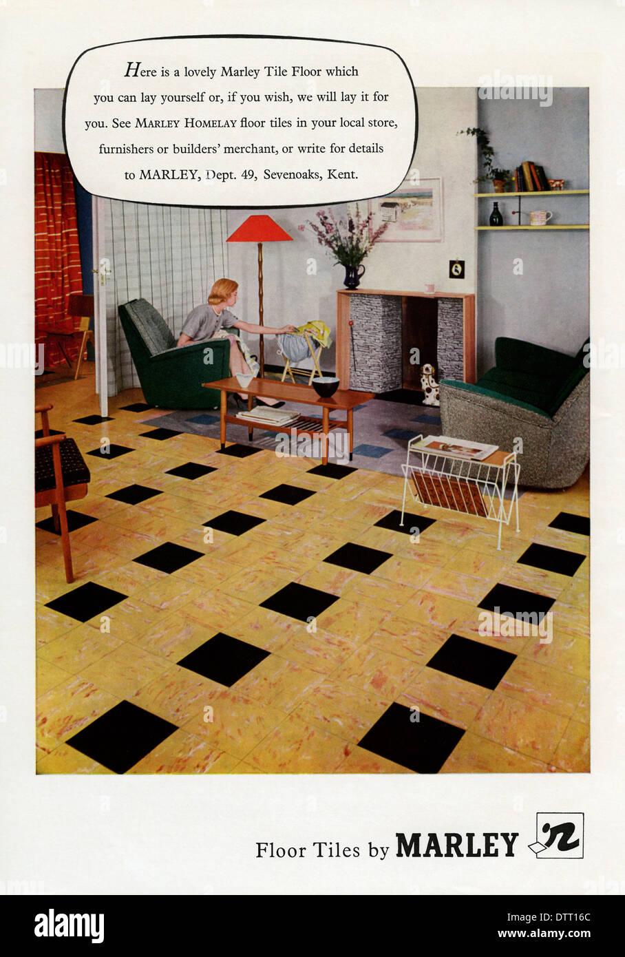 Advertisement For Marley Floor Tiles Stock Photos Advertisement