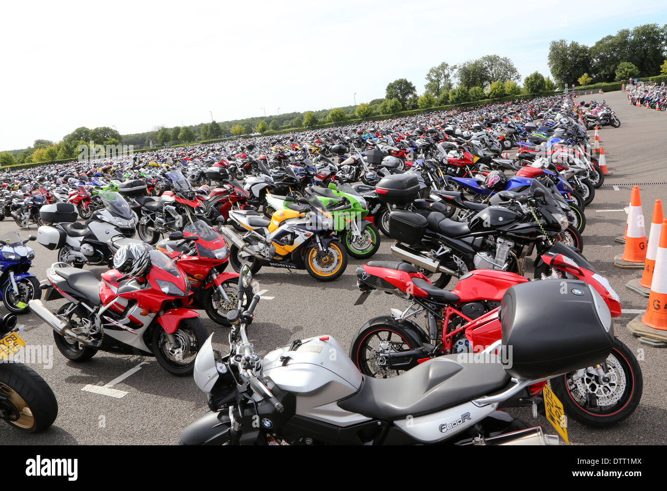 Bike park at Silverstone Moto GP 2013 - Stock Image