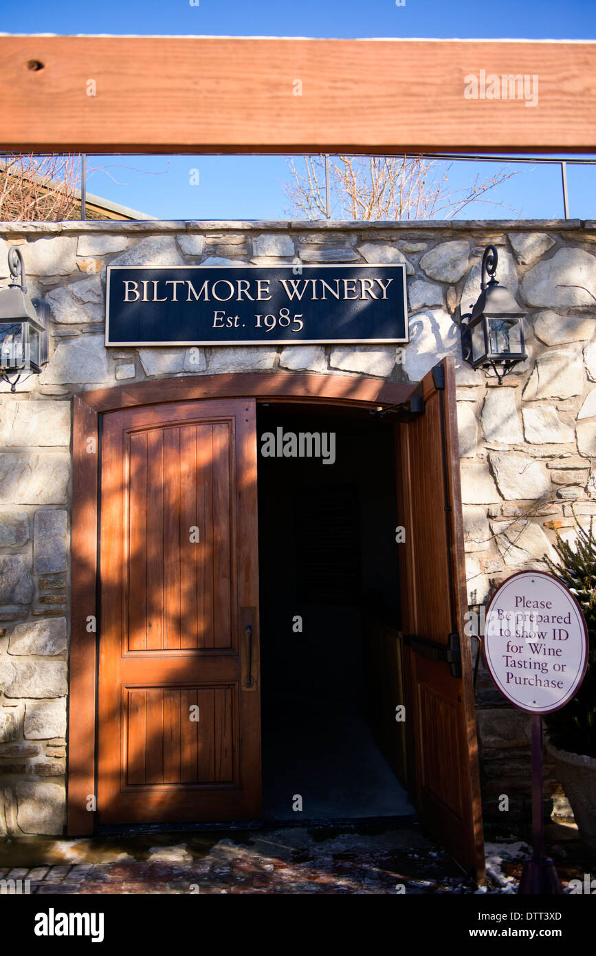 The Biltmore Winery on the grounds of the biltmore mansion, Asheville North Carolina - Stock Image