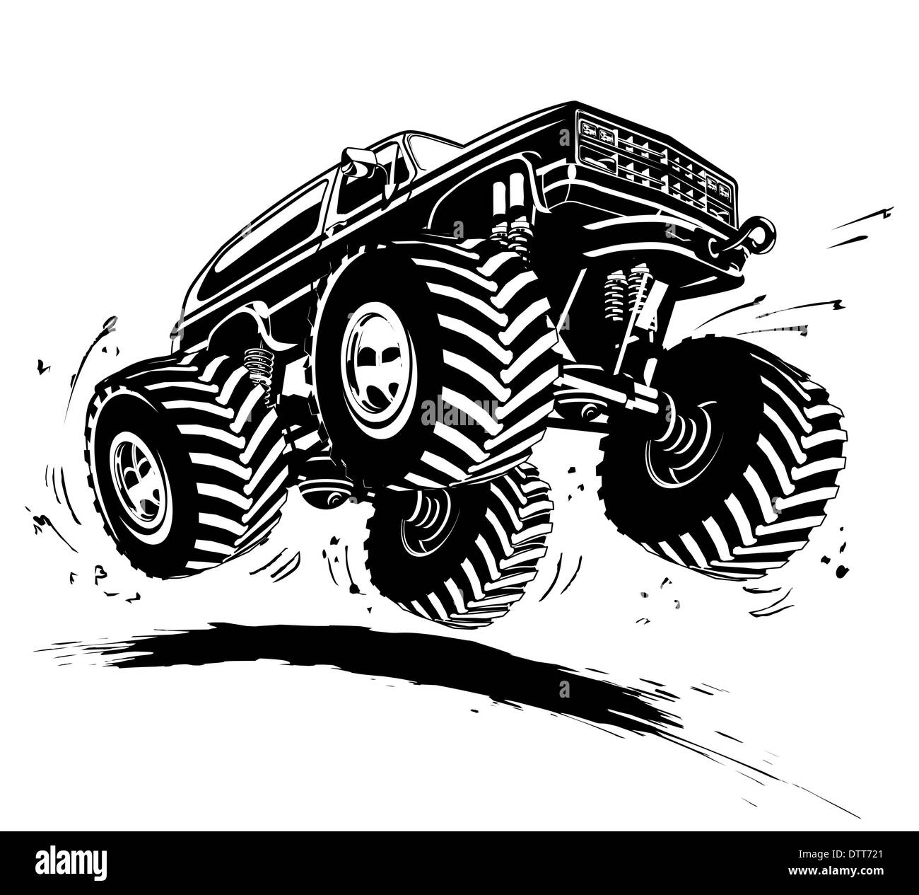 Monster Truck Black And White Stock Photos Images Alamy
