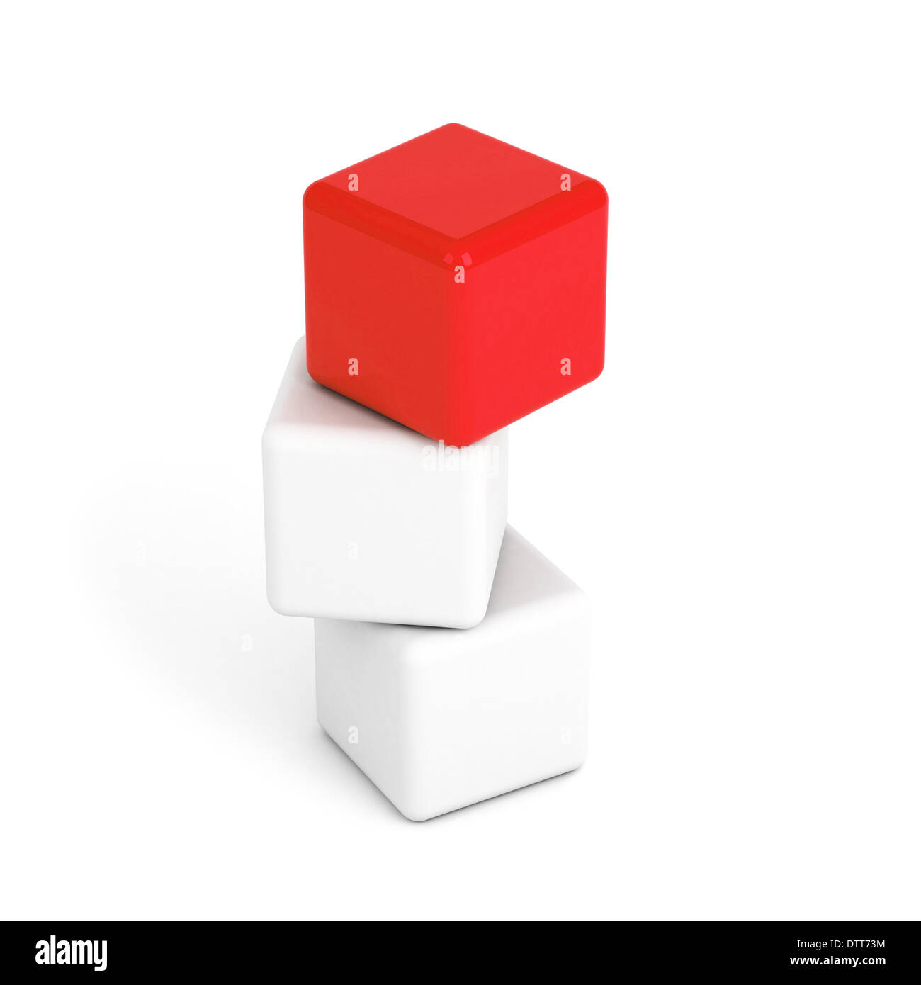 bright red box leadership concept - Stock Image