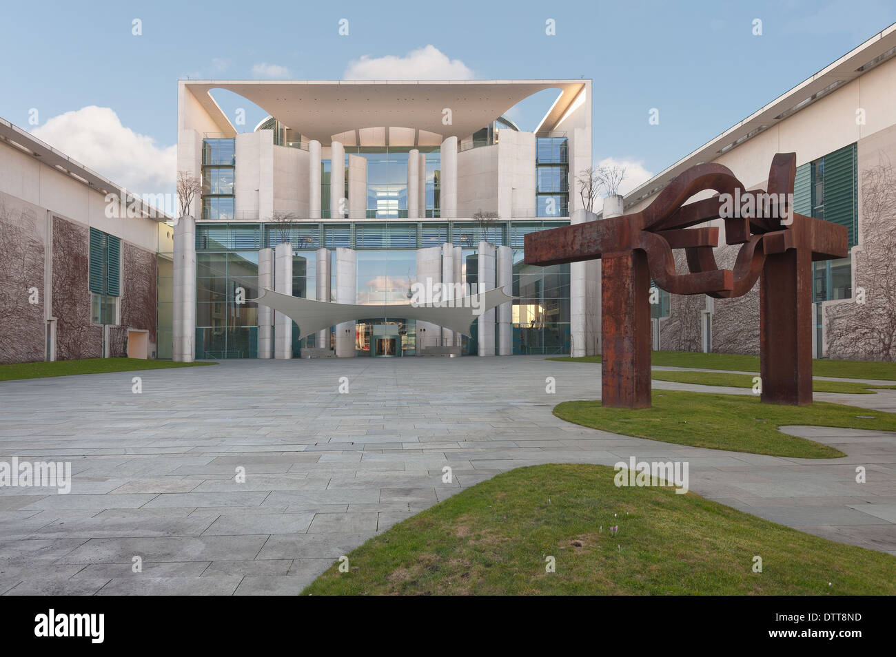 Federal Chancellery building of the German Chancellor Chancellery staff - Stock Image