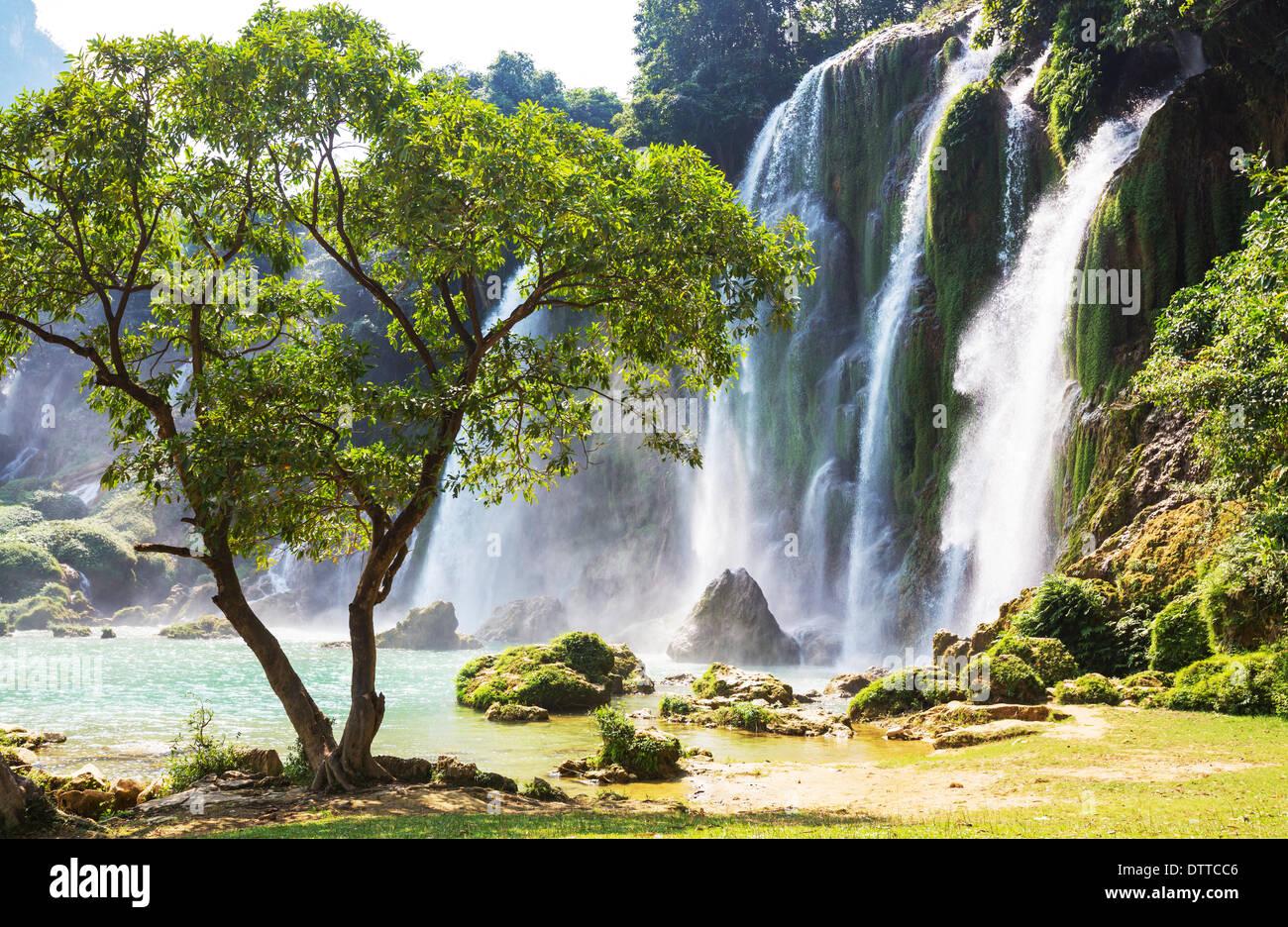 Waterfall in Vietnam - Stock Image