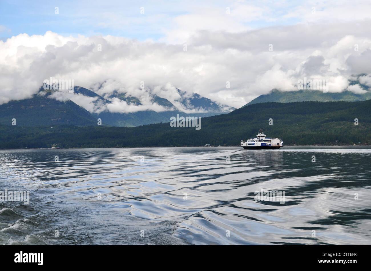 Kootenay Lake, Balfour, British Columbia, Canada - Stock Image