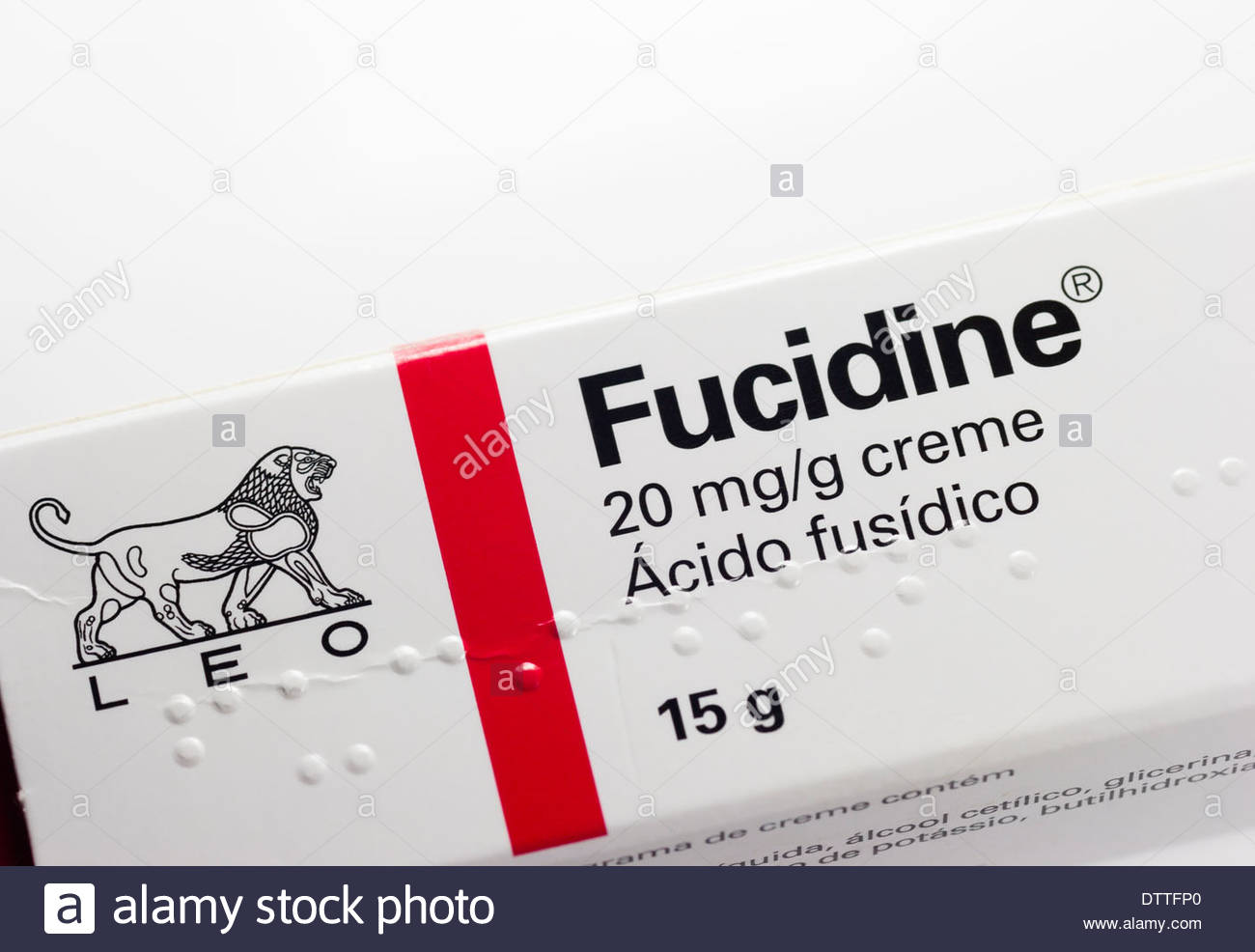 Fucidine cream an antibacterial agent used to treat a number of bacterial skin infections as supplied in Portugal - Stock Image