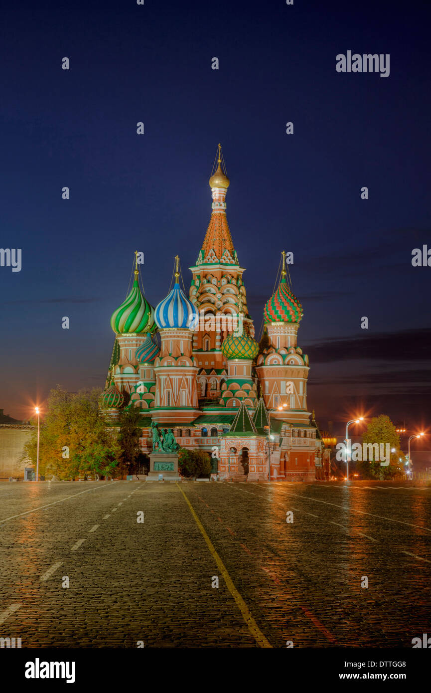 Saint Basil's Cathedral and Red Square, Moscow, Russia - Stock Image