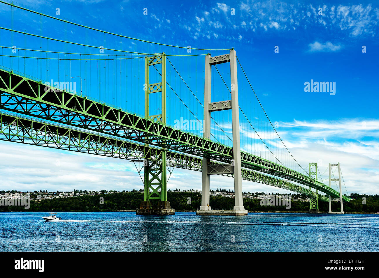 Narrows Bridge, Tacoma, Washington, United States - Stock Image