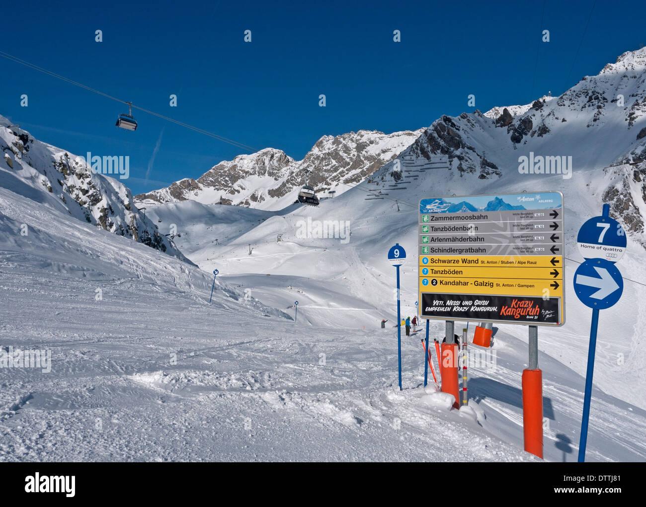 st anton ski resort stock photos & st anton ski resort stock images