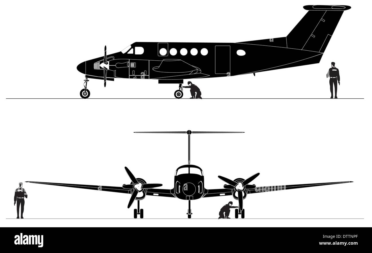 Civil utility aircraft Stock Photo