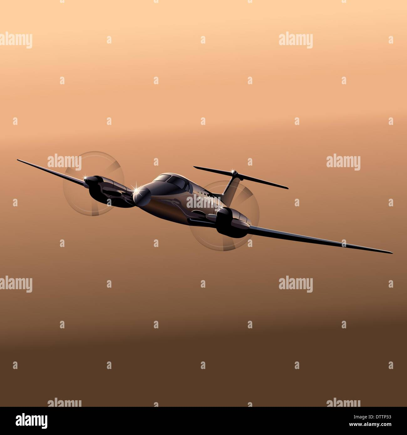 Civil utility aircraft - Stock Image