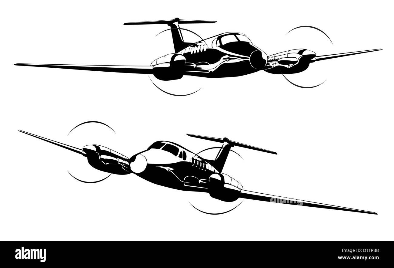 Civil utility aircraft - Stock Image
