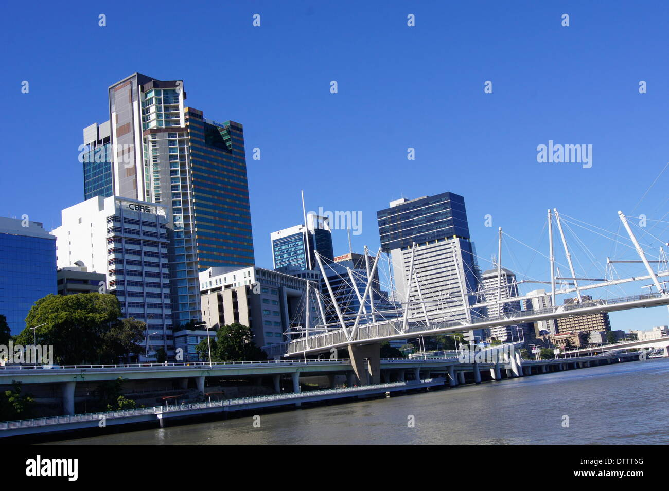 central business district,brisbane,australia - Stock Image