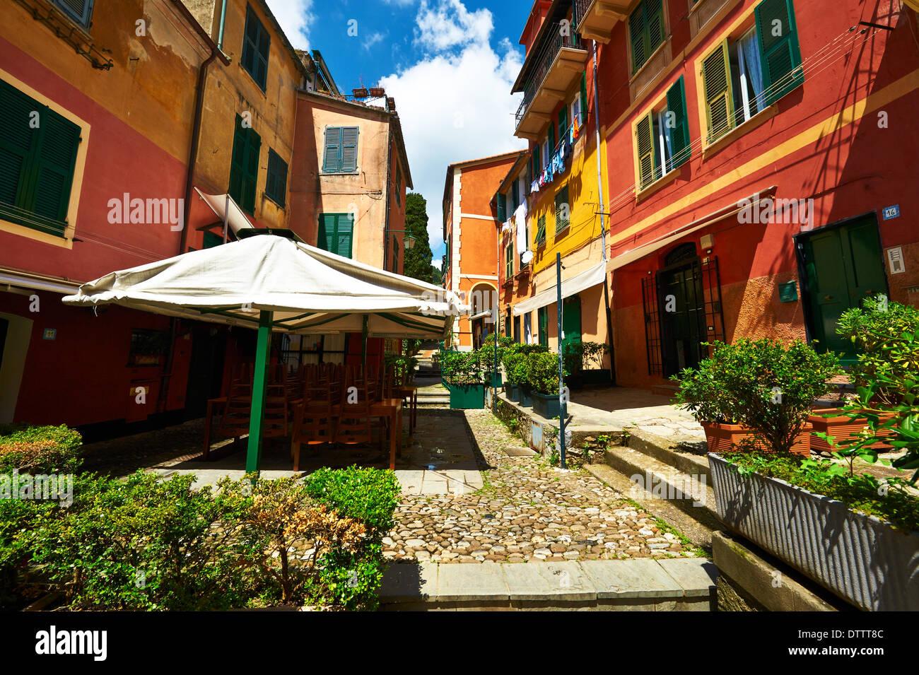 Portofino village on Ligurian coast, Italy Stock Photo