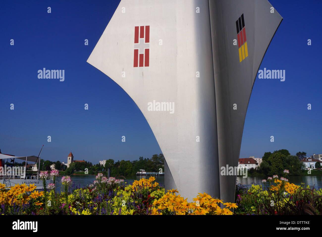 border triangle,basel,switzerland - Stock Image