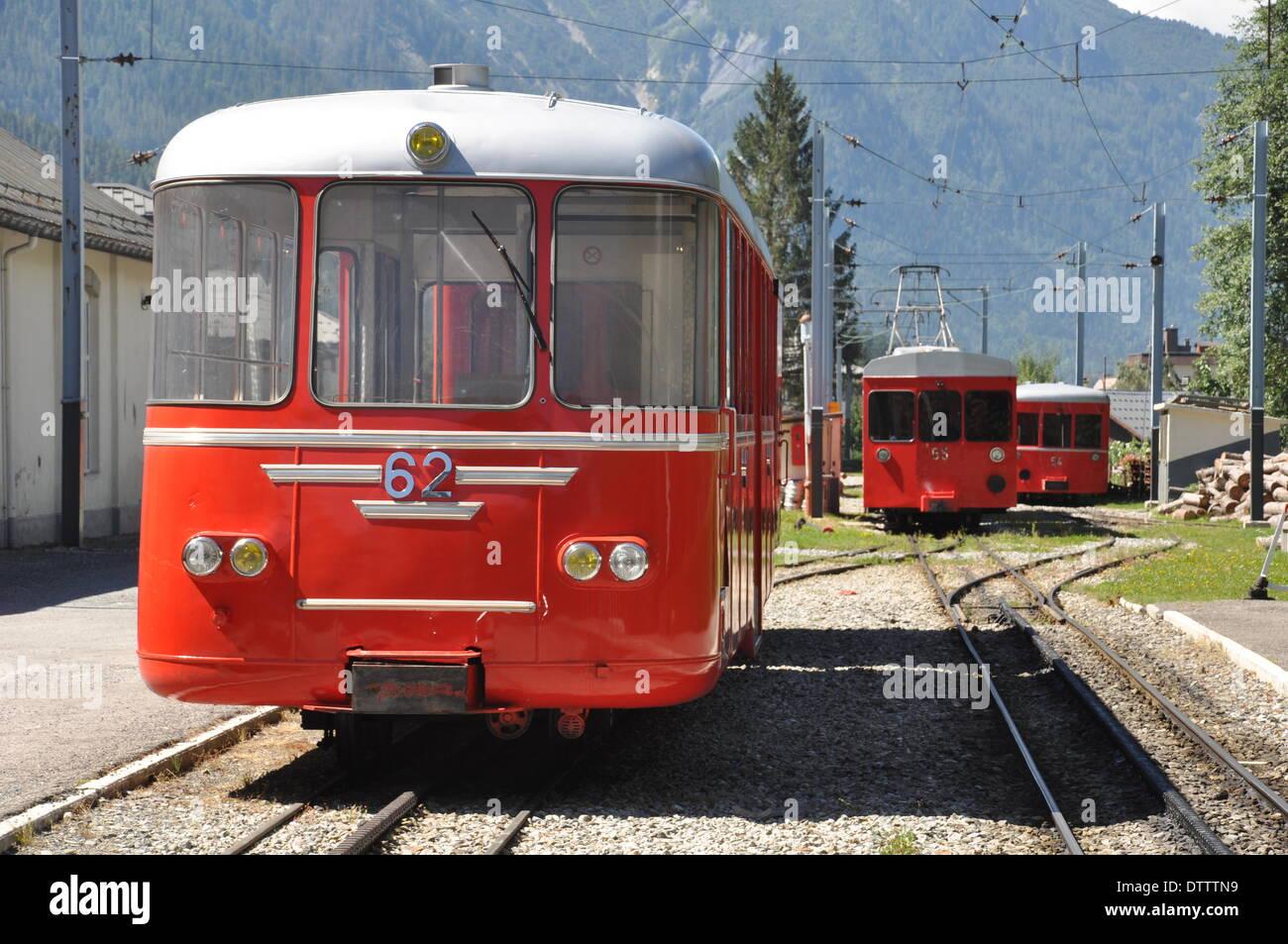 montenvers railway,chamonix,france Stock Photo