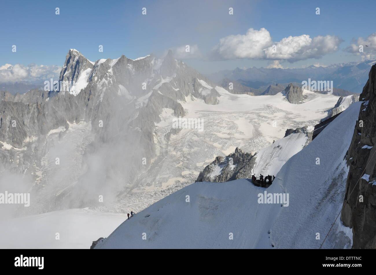Mont-Blanc-Massiv,France - Stock Image