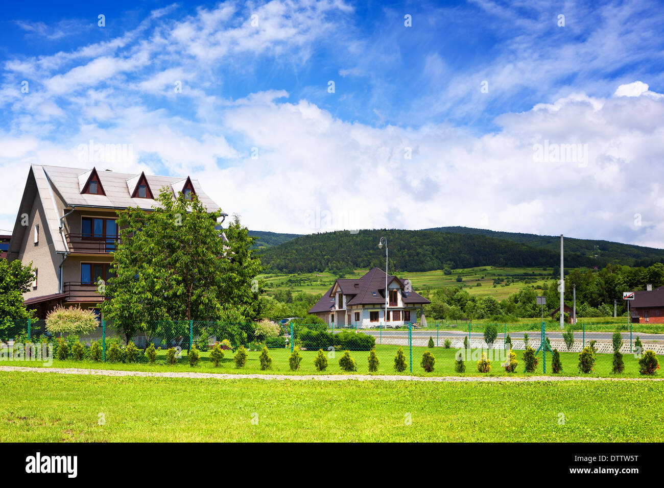 Summer mountain landscape - Stock Image