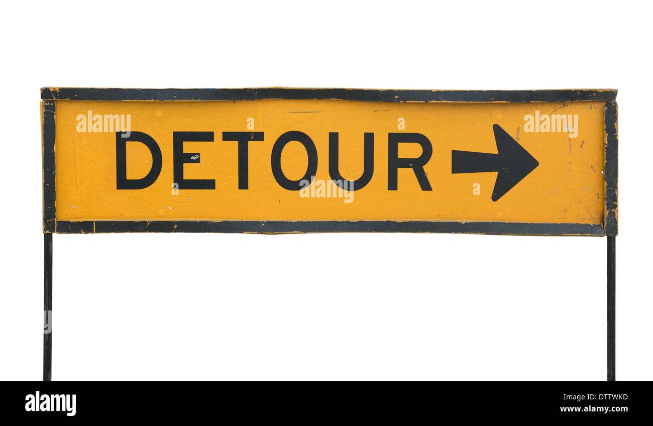 detour road sign - Stock Image