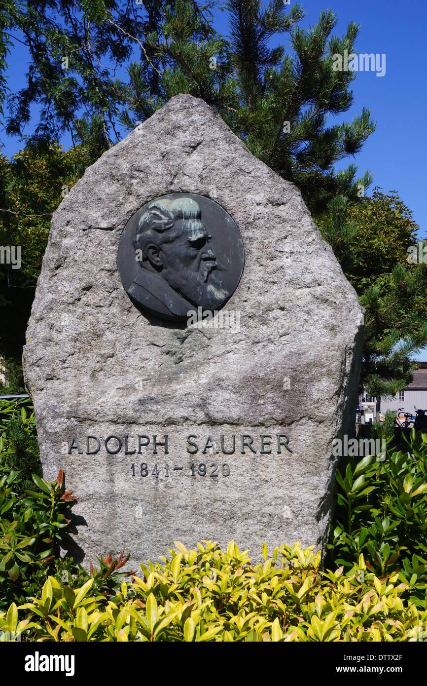 adolph saurer memorial,arbon,switzerland Stock Photo