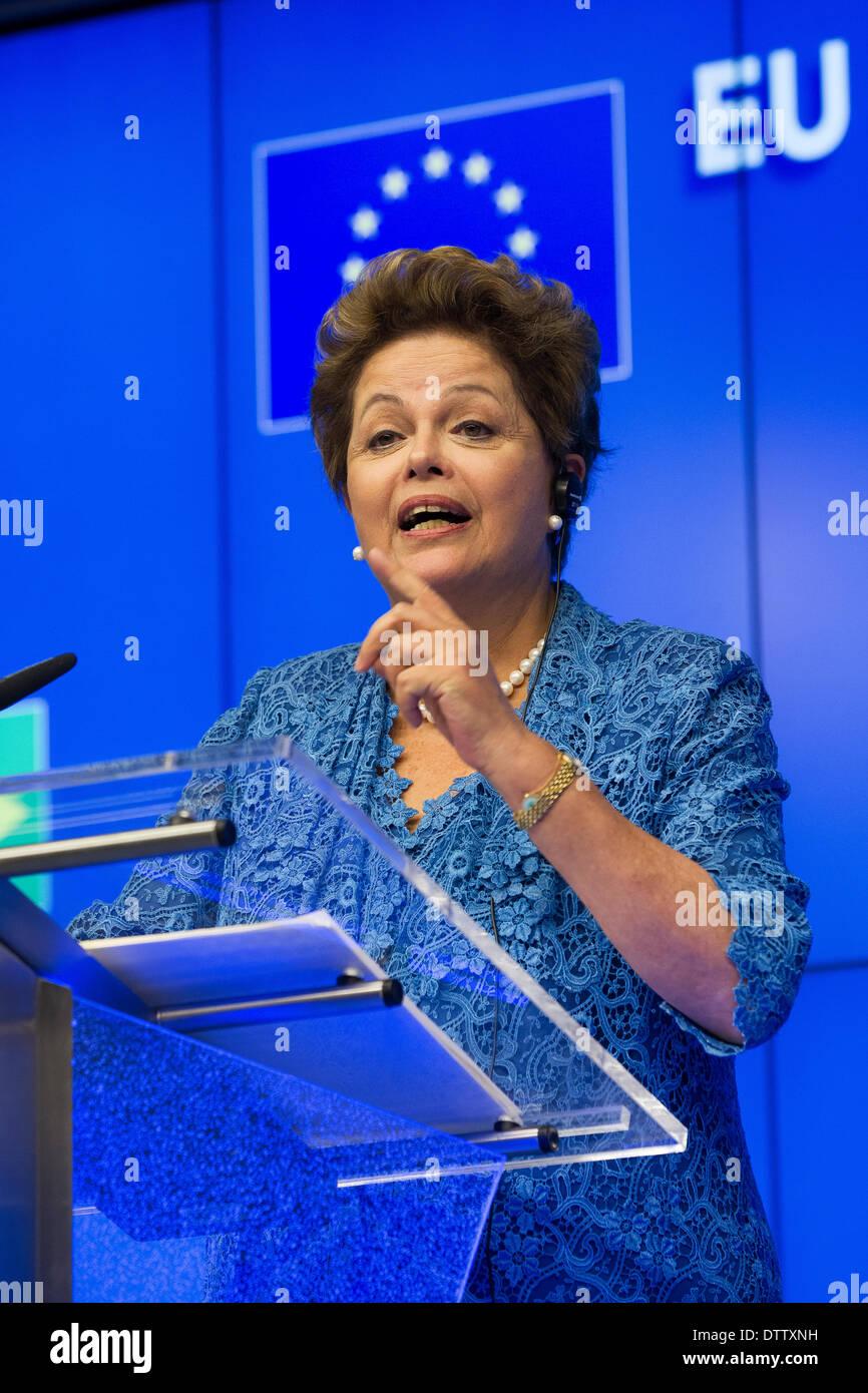 Mrs. Dilma Rousseff, President of Brazil - Stock Image