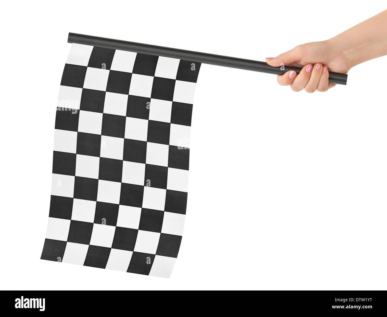 Checkered final flag - Stock Image