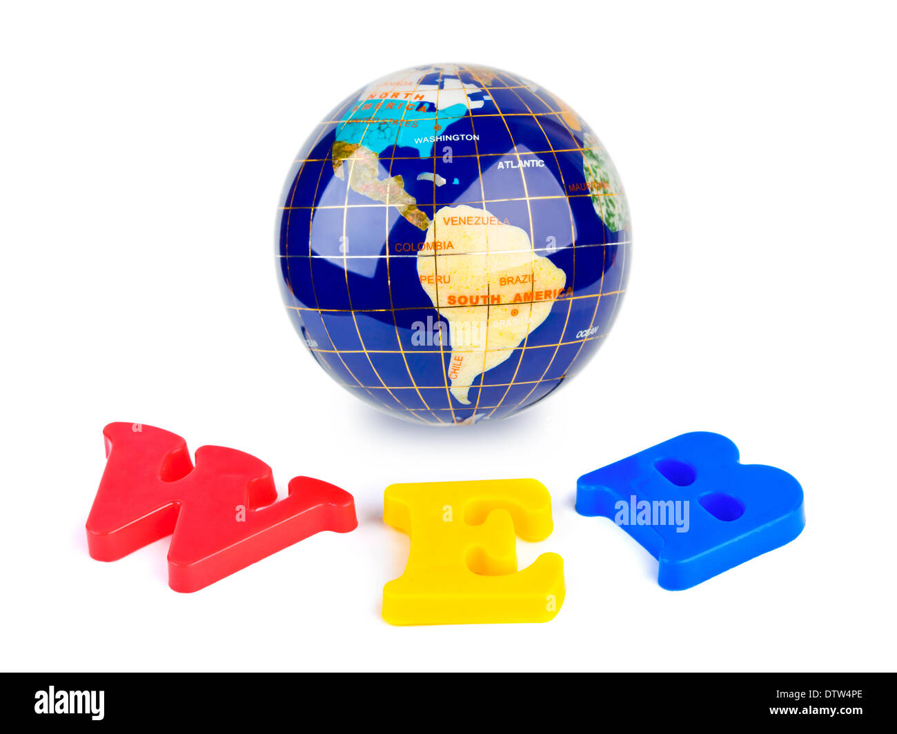 globe and word web stock photo 66935414 alamy